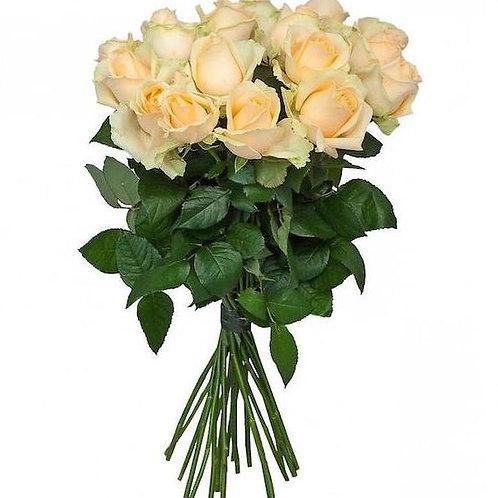 Букет из 19 персиковых роз Пич Аваланж