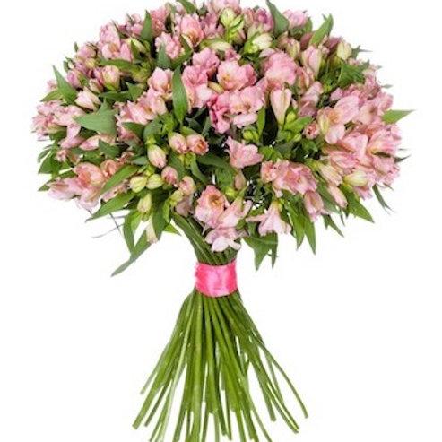 51 розовая альстромерия