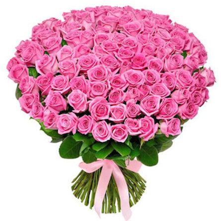 """101 роза """"Аква"""""""