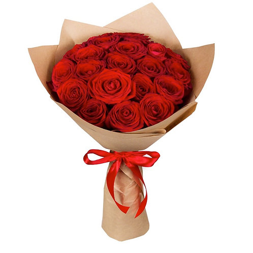 Букет из 19 красных роз Ред Наоми