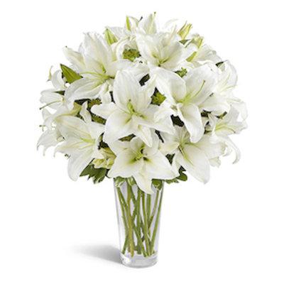 Крупные белые лилии поштучно (от 1 шт.)