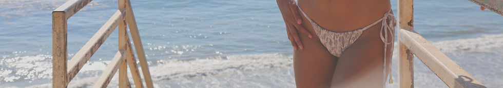 Shop Swim Bottoms Animal Print Side Tie Bikini