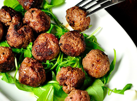 Grilled Beef Meatballs cooked with Cooxy
