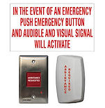 Universal washroom emrgency alarm