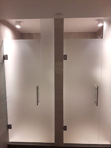 Frosted glass showers