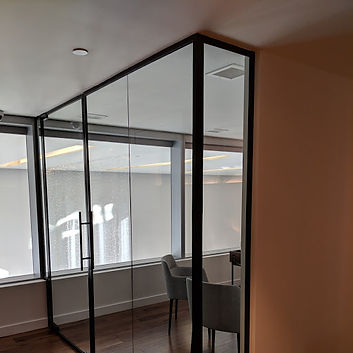 Commercial office partitions and door