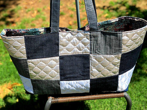 Blue Patch Tote
