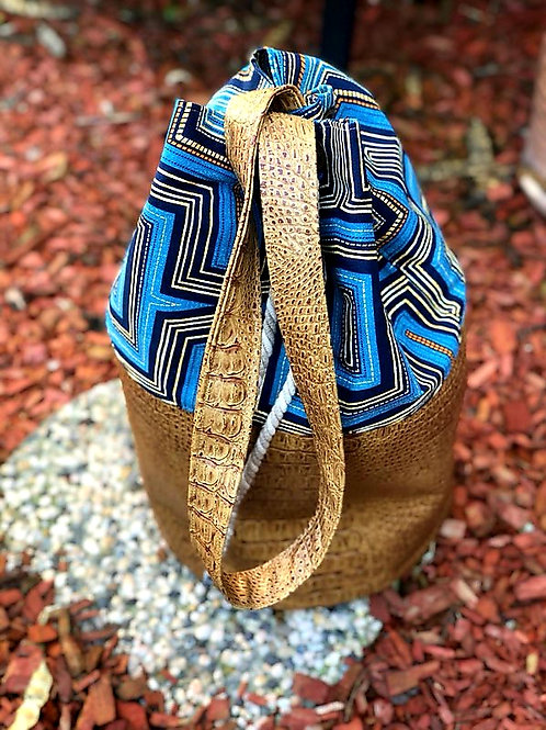 Mixed Media Bucket Bag