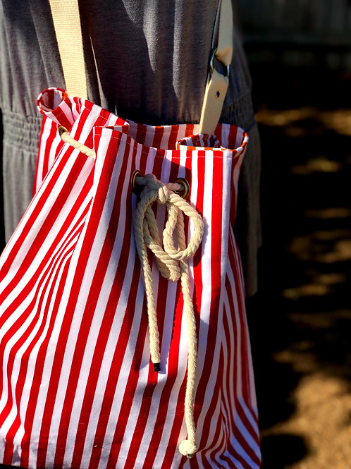 Red/White Bucket Bag