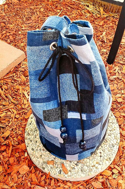 Denim Fusion Bucket Bag