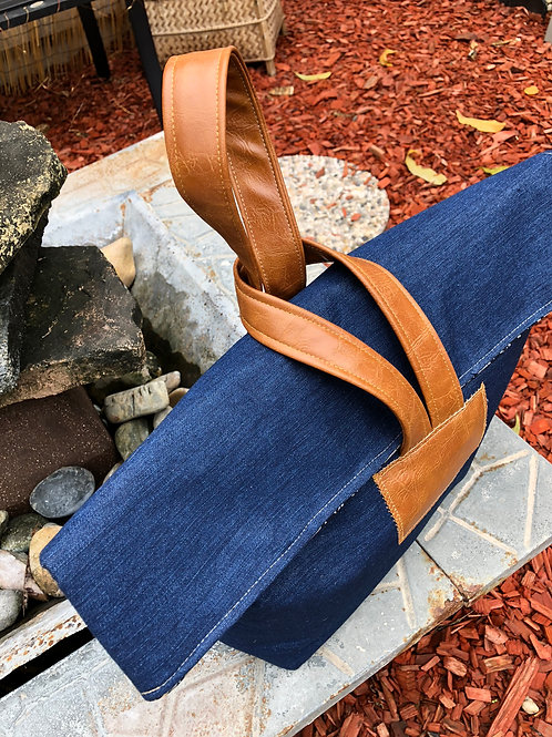 Handle Bag- Denim Simone