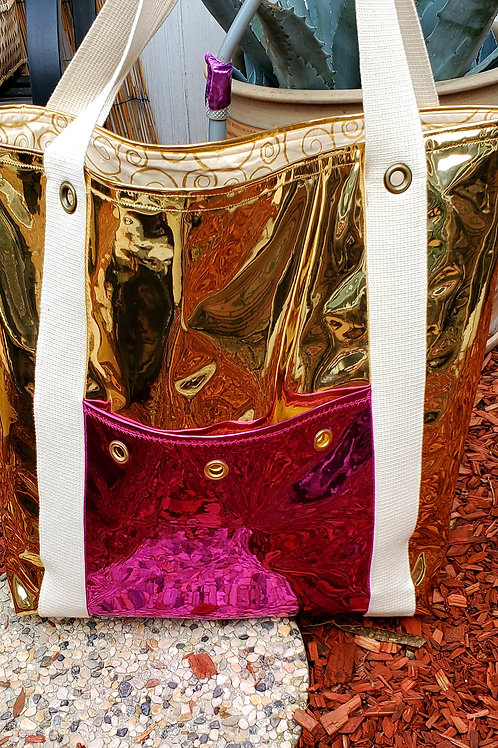 Gold Mirrored Tote