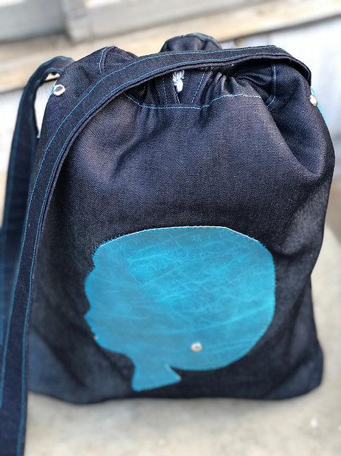 Teal Dream drawstring bag