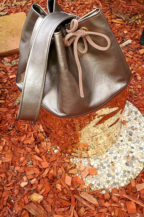 Gold Reflections Bucket Bag