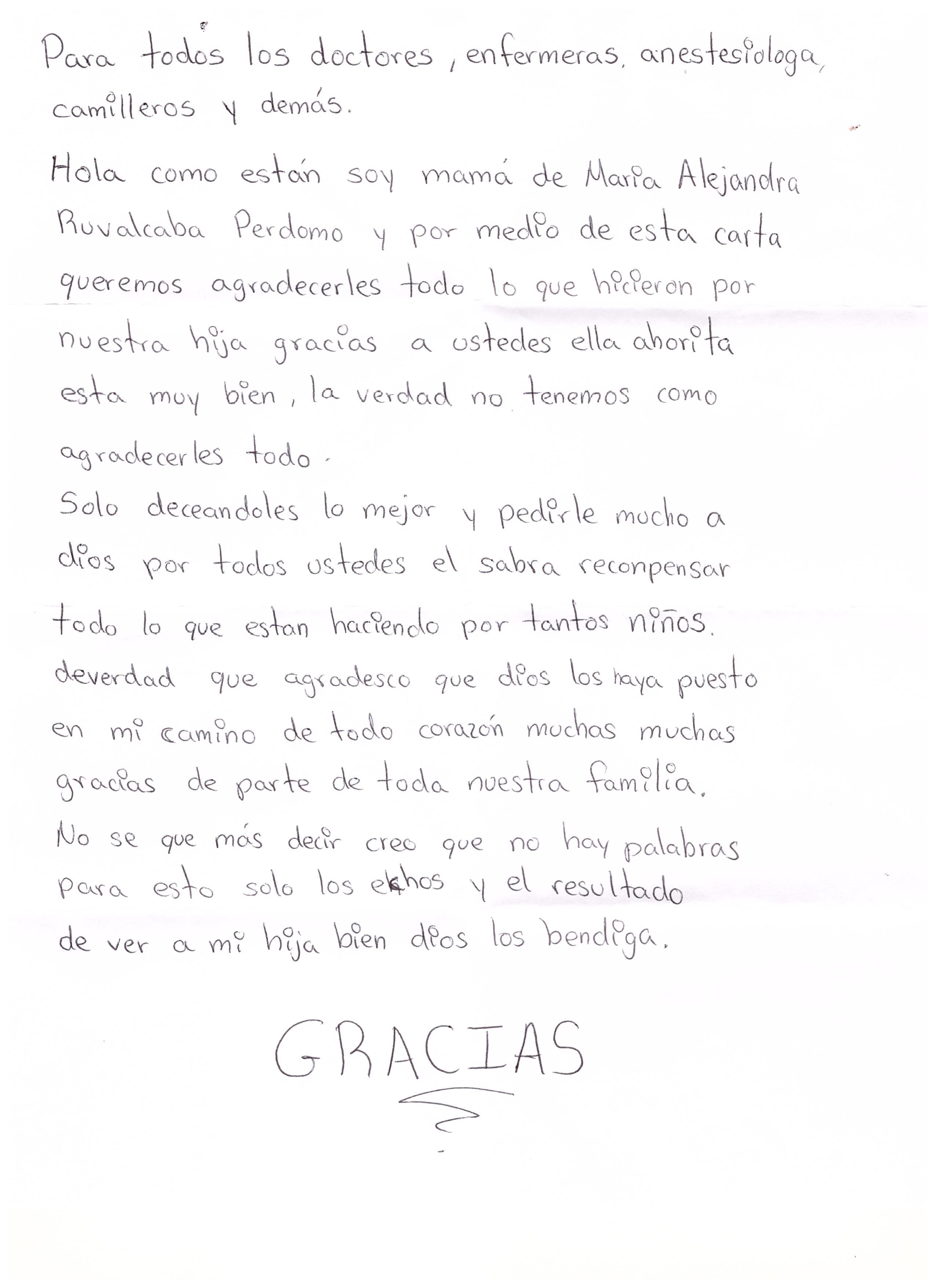 Carta papás Alejandra