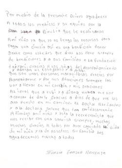 Carta mamá Tadeo