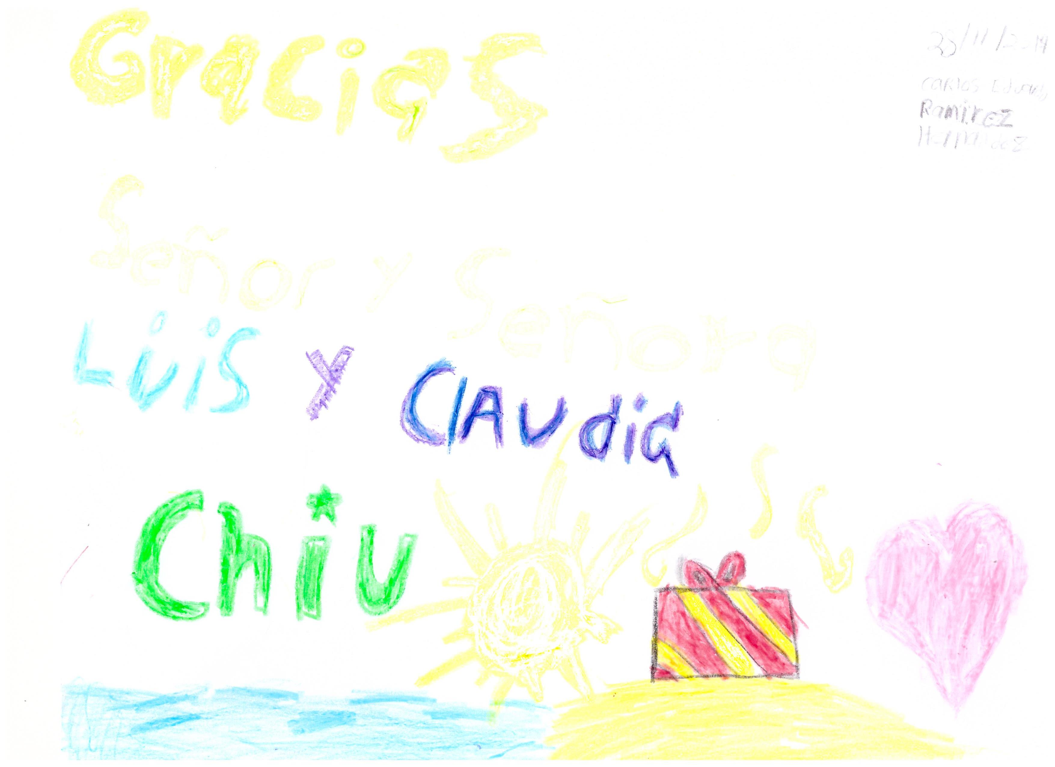Dibujo Carlos Eduardo - Fam. Chiu