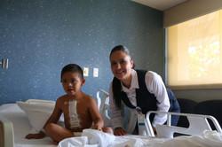 Con Claudia del Hospital Ángeles