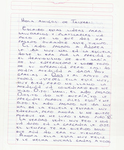 Carta mamá Andrea