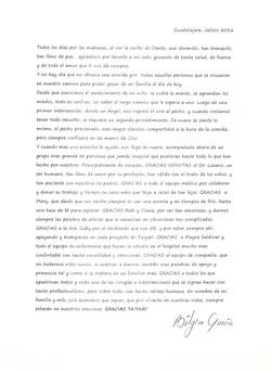 Carta papás de Dante