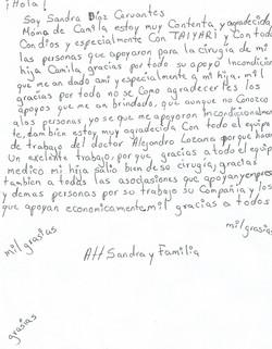 Carta Camila