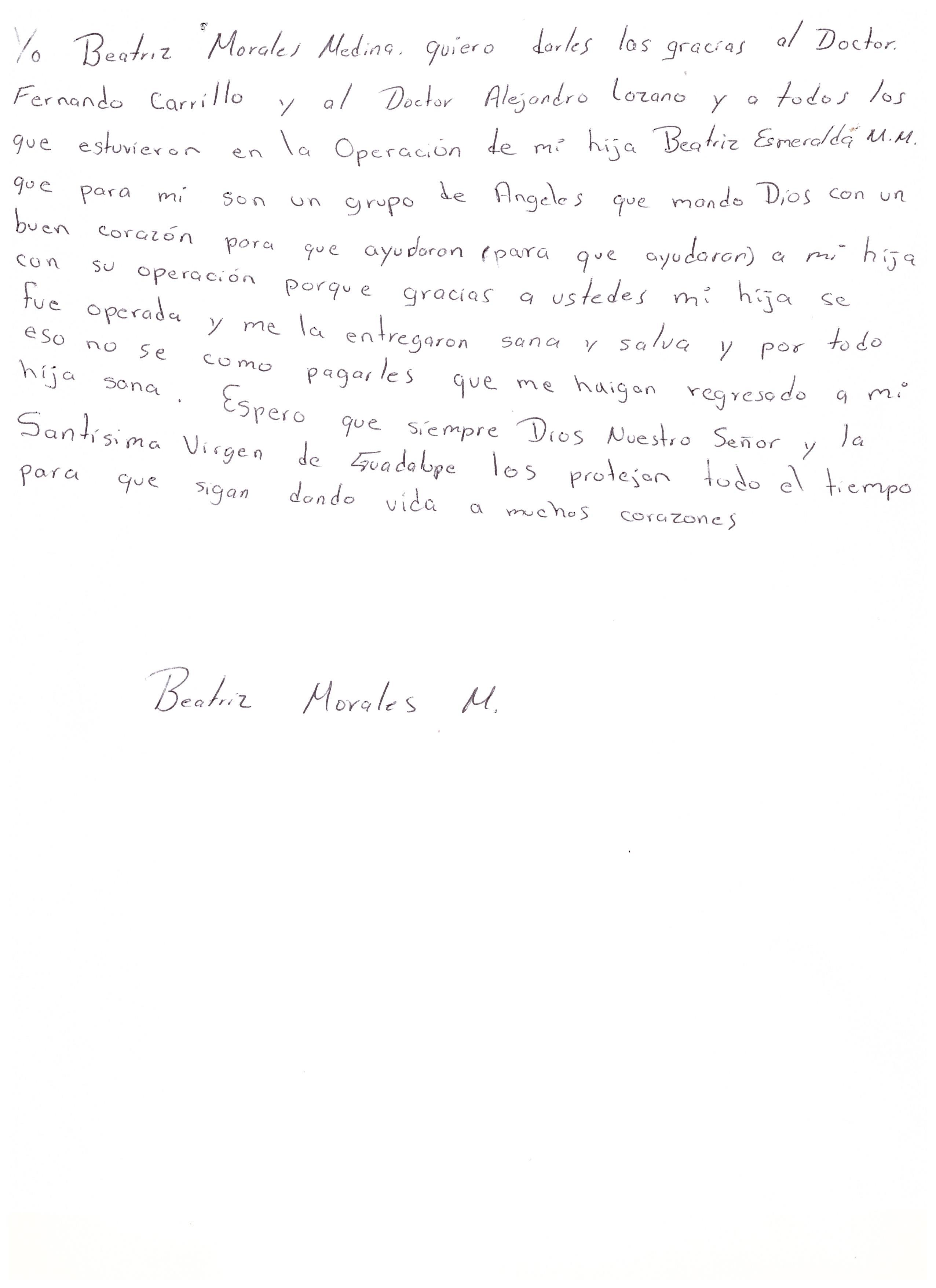 Carta mamá Betty