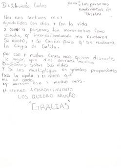 Carta papás de Carlita