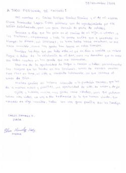 Carta papás Carlos Eduardo