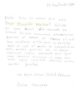 Carta mamá José Oswaldo