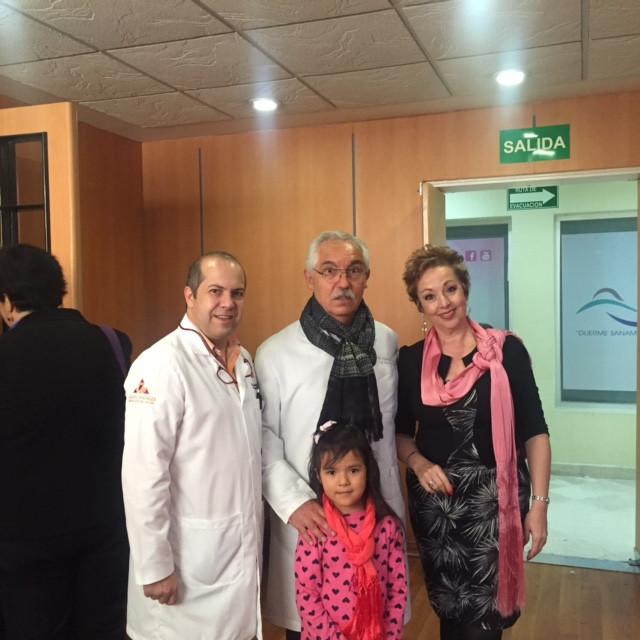 Dr. De la Fuente, Dr. Lozano, Lupita Zepeda y Mirnda.