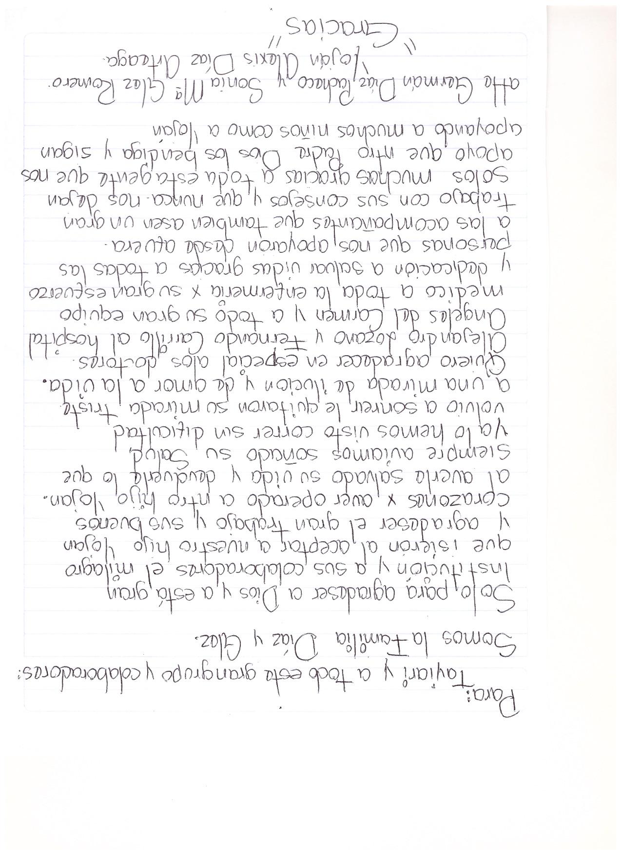 Carta papas de Yojan