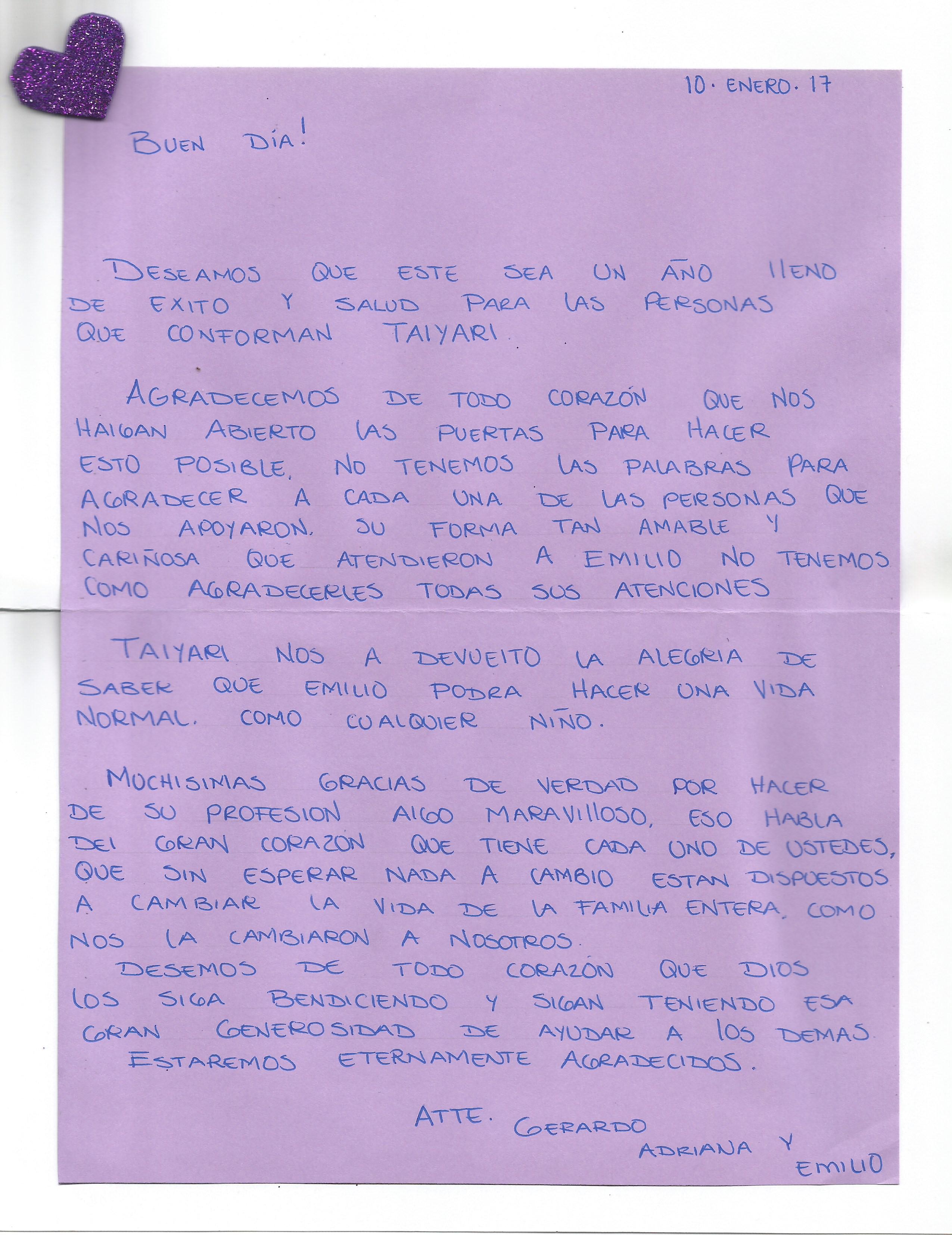 Carta Emilio