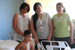 Con mi mamá, la Sra. Gaby y Diana