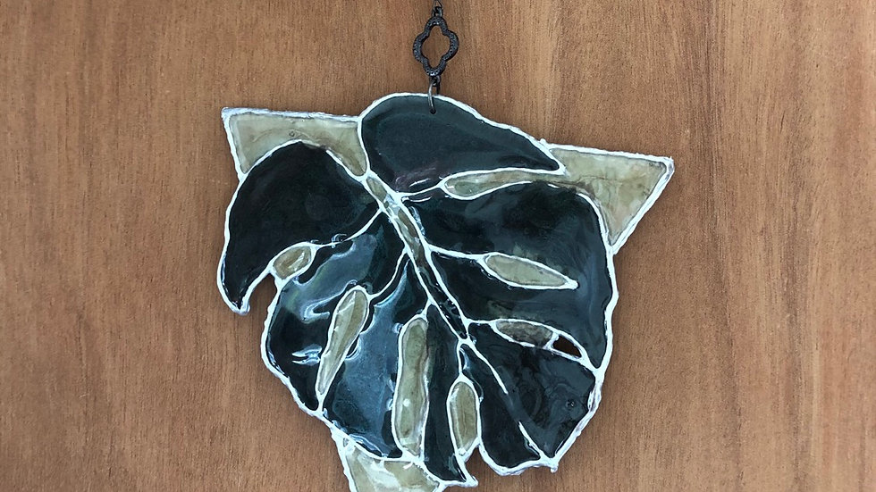 "Hanging Resin ""Stained Glass"" Leaf"