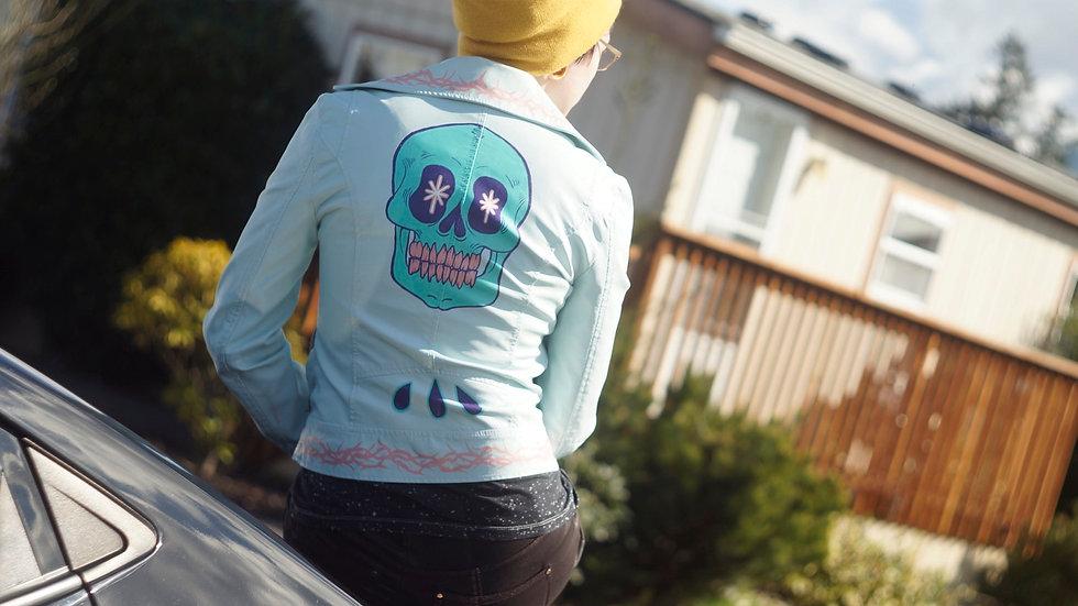 Pastel Painted Pleather Jacket