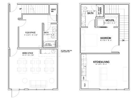 The Station Live/Work Townhome Floorplan