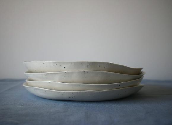 Grande assiette creuse en porcelaine D24cm