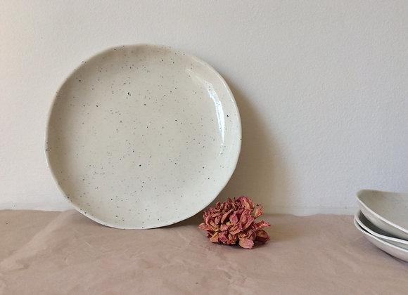 Grande assiette creuse en porcelaine