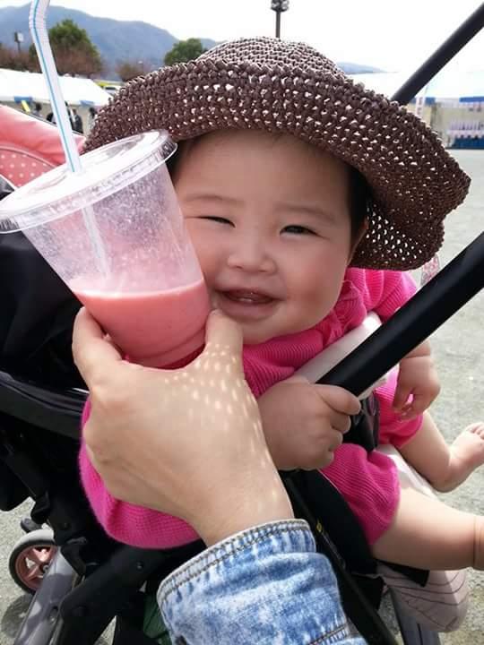 Baby enjoyed smoothie