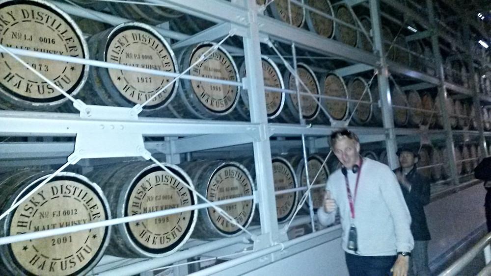 Resting hakushu whisky