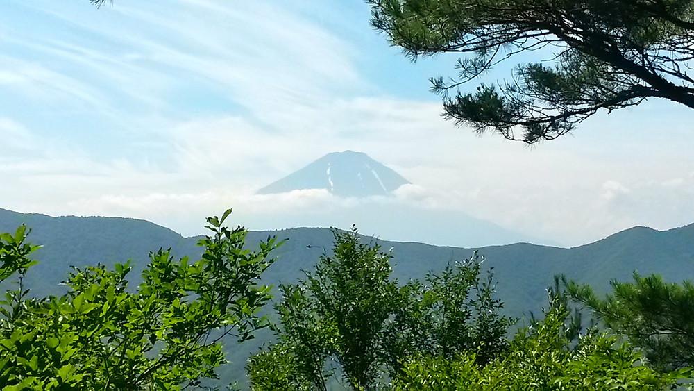 Himine shrine MT Fuji view