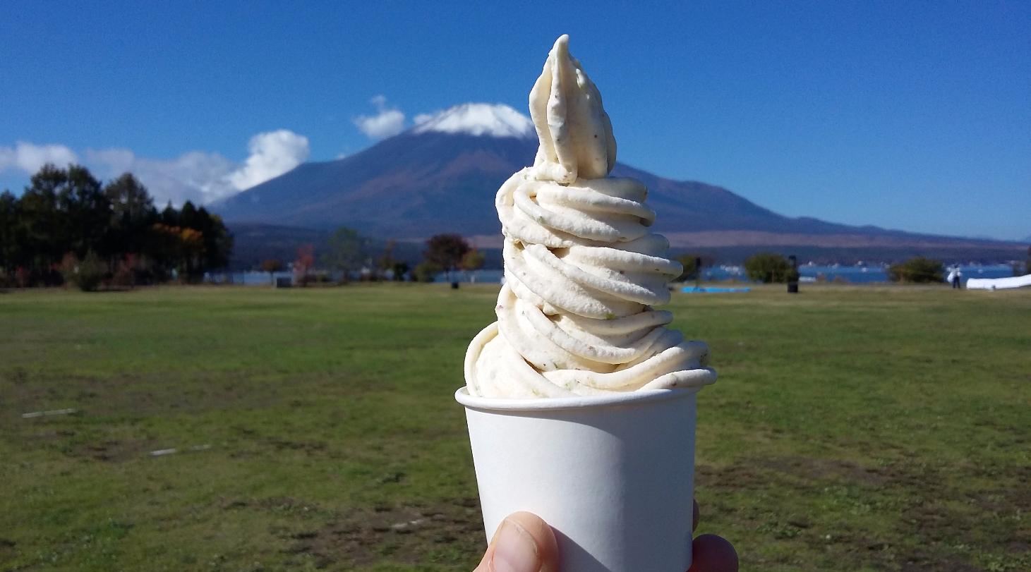 Mt Fuji and fig blend ice cream