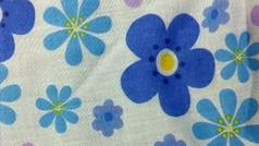 Big Blue Hippy Flowers