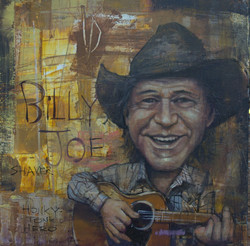 _Billy Joe Shaver....Honky Tonl Hero 30x30 acrylic on wood $2400
