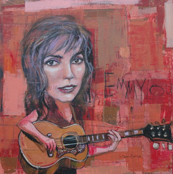 Emmy Lou Harris 40x40 acrylic on wood $3800