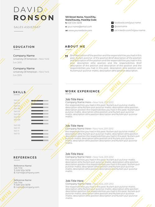 Resume & Cover Letter 7
