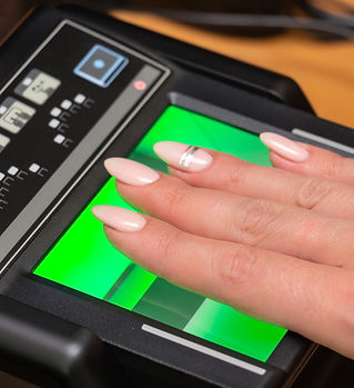 The process of scanning fingerprints dur