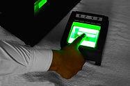 Fingerprint scanner at night close up..j