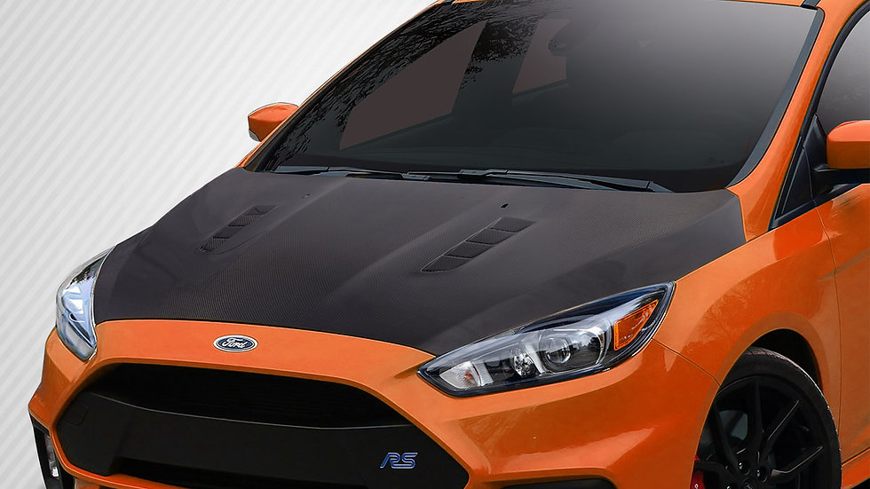 2016-2018 Ford Focus Carbon Creations RS Look Hood