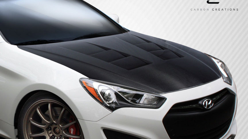 2013-2016 Hyundai Genesis Coupe 2DR Carbon Creations DriTech TS-1 Hood - 1 Piece